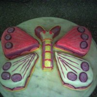 Butterfly Just For Practice! I'm practically new to cake dec.. although I just do it for fun, I will like to learn more. This one was covered in MMF that I also...