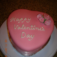 Valentine's Day Cake With Gum Paste Roses