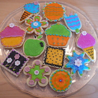 Colorful Spring Cookies! These are my first cookies decorated with royal icing. I loved the experience!