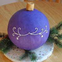 Christmas Ornament Cake Christmas Ornament Cake - This is a cake dummy I made for a Demo I was teaching on how to cover a spherical cake with fondant and how to...