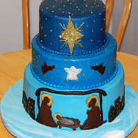 Christmas Nativity Cake I made this cake for my daughter's classroom Christmas potluck party. I was asked to bring a dessert for 70 to 80 people (students and...