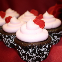 Valentine Cupcakes Chocolate cupcakes with vanilla buttercream