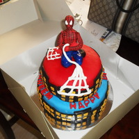 Spiderman Cake DOUBLE CHOCOLATE MUD CAKE COVERED WITH FONDANT