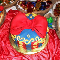 Snow White Themed Cake RED VELVET CKE WITH CREAM CHEESE FROSTING