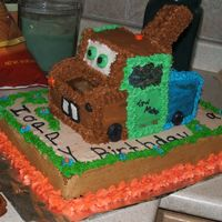 "Tow Mater From ""cars The Movie"" This is a picture of a Tow Mater cake I did for a little girls 6th birthday party."