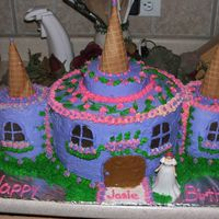 Castle Cake This is the castle cake I made for my niece's 3rd birthday, she has a huge family so we needed to feed alot. Very nerveracking. But I...
