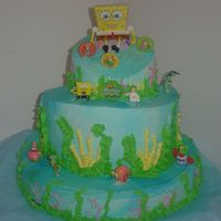 Sponge Bob   I am proud of this one!!!!! It took me a long time but it was worth it my ds loved it!!!!!!!!!!!!!!