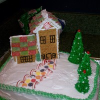 Christmas Scene Here is a 3-d Christmas cake