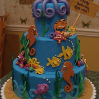 Under The Sea I used my Cricut Cake Expressions to cut out some of the decorations. This is the first time I decorating a cake and I learned a lot about...