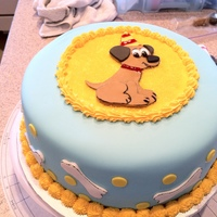 Puppy   Chocolate Cake, Cookies & Cream Filling, MMF and buttercream accents