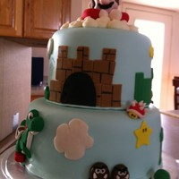 Super Mario Chocolate cake, Cookies and Cream filling, MMF