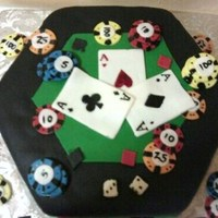 Poker Table Theme Cake
