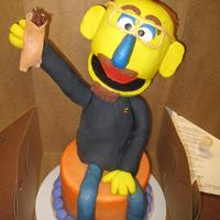 Muppet Man cake class with lauren kitchens..fun..loved the class