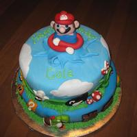 Mario Cake Everything out of fondant