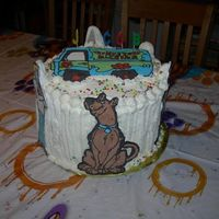 Scooby Doo Gang Cake My 5 year olds bday cake, Used run outs..intended to do something different but ran out of time so had to just through it together all...
