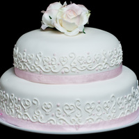Small 2 Tier Wedding Cake