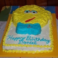 Big Bird Cake I made this cake using an older Big Bird shaped baking pan and decorated it with buttercream icing.