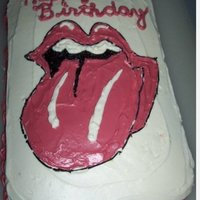 Rolling Stones Tongue For this cake I tried to replicate the design of the Rolling Stones tongue logo. This was before I had any cake clases and learned about...