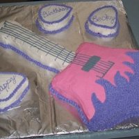 Star Guitar With Picks I made this star guitar using a star shaped cake pan and a regular rectangular cake pan. I cut a long strip from the rectangular cake for...