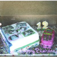 Chaela's 12Th Bday Cake Opened same cake with the cover up.