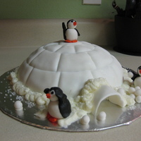 Snowball Fight I threw this cake together one afternoon as a Christmas gift for my neighbors. It is a devil's food cake with marshmallow fondant and...