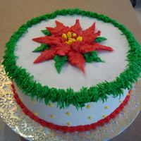 Pointsette - My First Christmas Cake With Frosting