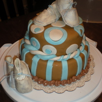 Mocha Cake For Baby Shower  Okay so this newest cake is for a lady having twins. Its a Mocha cake with whipped mocha filing, italian chocolate buttercream and white...