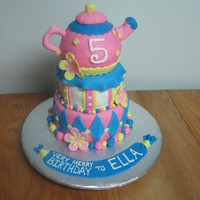 Teapot Cake This cake was for a little girl's Alice in Wonderland tea party birthday