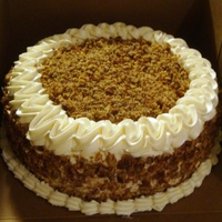 Red Velvet Pecan   Coworker ordered a RV w/pecan topping. Cream cheese frosting