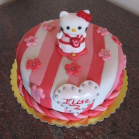 Hello Kitty Cake hello kitty choc cake with sugarpaste