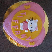 Hello Kitty hello kitty cake made all with sugarpaste and gum paste