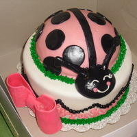 Pink Ladybug Saw this and had to duplicate it! Matching cake pops!