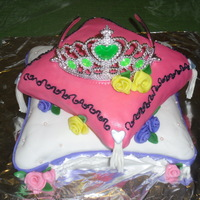Princess Pillow Cake My first carved cake. I had fun doing this and I absolutely loved the outcome. The crown is plastic. I wasn't brave enough to make my...