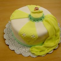 Baby Cake fondant cake with baby in bassinet