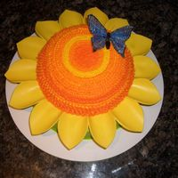 Sunflower Cake Sunflower cake for my co-workers birthday. I think this would make a really nice Mother's Day cake too. Darn Good Chocolate Cake with...