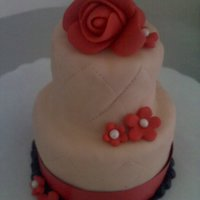 Mini Cake Mini wedding cake covered in fondant
