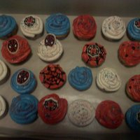 Spiderman Cupcakes   spiderman cupcakes for my son's class