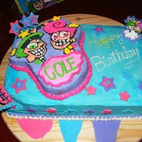 Fairly Odd Parents Birthday Cake This is a cake that I made for my sons 7th birthday.
