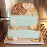 Suzie Cakez Cupcakes beach themed wedding all fondant and gum paste decorations vanilla and chocolate cake