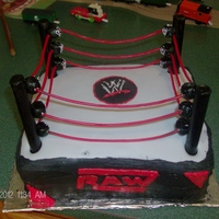 Wwe Wrestling Ring Posts were made of chocolate and the ropes were made of twizzlers