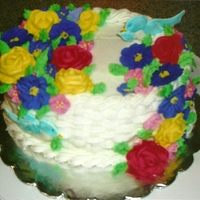 Flowers And Birds Cake