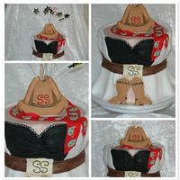 Cowboys And Wenches 40th birthday cake for my friend Sharon. The theme for the party is Cowboys and Wenches and the cake is based on the outfit she's...