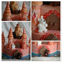Meghan's Bear Castle For my DD's best friend who loves bears and fairytales!Everything in the cake is edible - bottom layer is a chocolate chunk sponge...