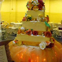 Wedding Cake With Sugar Paste Flowers