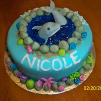Dolphin Birthday Cake Everything is hand made and edible