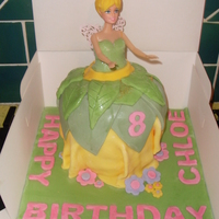 "Tinkerbell this is a cake i made for a little girl who turned 8. customer spec was ""likes tinkerbell & all things fairy""..so i hope i..."