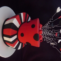 Queen Of Hearts Madhatter I made this madhatter cake at Handi's cakes course in Sydney. I loved doing it all except the stripes! I was warned that the stripes...