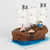 Pirate Ship My First Pirate Ship. It was so much fun to make. My beet-red velvet cake, with boiled buttercream filling, covered in white chocolate...