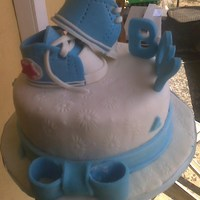Kiddy Booties my sis gave birth to baby boy and i had to send a cake via my mum travelling to France from Nigeria to see her. i had tots of the cake...