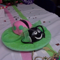 Lady Bug Little Lady Bug cake for a friends birthday